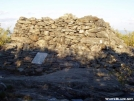 The rock monument at the summit of Bear Mountain in CT