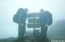 Summit sign Franconia Ridge Cloudy by refreeman in Trail & Blazes in New Hampshire