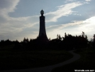 War Memorial sunset silhouette on Mt Greylock. by refreeman in Massachusetts Shelters