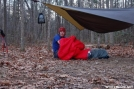 I am born by Hanger in Hammock camping