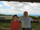 Steve And Scott At Wayah Bald Tower