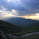Sunset from Lakes of the Clouds Hut by sbarn in Views in New Hampshire