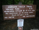 Abrams Falls Trail sign by Jaybird in Trail & Blazes in North Carolina & Tennessee