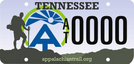 PROPOSED  TN A.T. License Plate by Jaybird in Trail & Blazes in North Carolina & Tennessee
