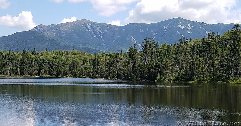 View of Franconia Ridge from Lonesome Lake Hut