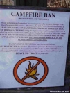 Campfire Ban by Uncle Wayne in Sign Gallery