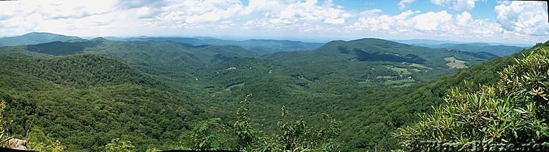 View from Cliffs Past Lick Rock Knob