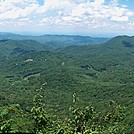 View from Cliffs Past Lick Rock Knob by Hikes in Rain in Trail & Blazes in North Carolina & Tennessee