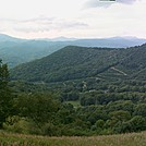 View South of Hump Mountain by Hikes in Rain in Trail & Blazes in North Carolina & Tennessee
