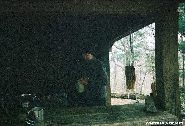 Cold morning at Wood's hole Shelter, GA