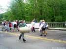 Hiker parade by Skidsteer in 2006 Trail Days