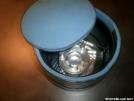 Homemade freezer-bag cozy for AGG 3-cup pot