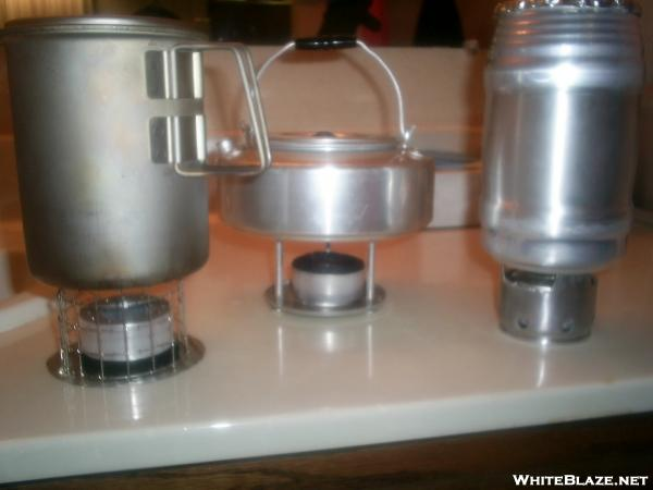 "Stoves from 2"" x 3/4' Candle-Lite tins"