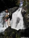 unnamed falls on Pierce Pond Stream