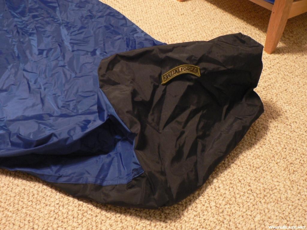homemade goretex bivy sack footbox