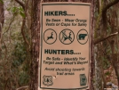 No Hunting Hikers by Pedaling Fool in Trail & Blazes in Georgia