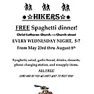 Christ Lutheran Church Duncannon PA Hiker meals