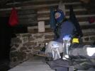 Breakfast at Rausch Gap shelter by bullseye in Faces of WhiteBlaze members