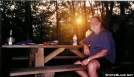 Sunset at Jenny Knob Shelter by TACKLE in Virginia & West Virginia Shelters