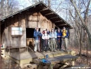 Lucky Dog and crew at deep gap shelter