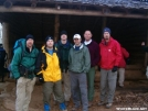Lucky Dog and crew at Brown fork Gap shelter by Lucky Dog in North Carolina & Tennessee Shelters