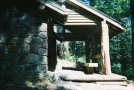 Rebuilt Shelter at Cosby Knob TN by Wildman in North Carolina & Tennessee Shelters
