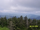 View From Lookout At Clingmans Dome
