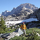 Campsite just north of Island Lake in the Wind River Range in Wyomong by map man in Other Trails