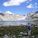 Lower Titcomb Lake in the Wind River Range in Wyoming by map man in Other Trails