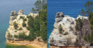 Miners Castle Before And After Collapse, April '06 by Lyle in North Country NST