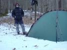 Camping Along Little Santeetlah Creek by Tipi Walter in Tent camping