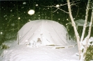 Winter Night Hike by Tipi Walter in Tent camping