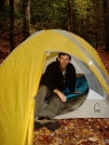 Johnny B in His Hyperlight by Tipi Walter in Tent camping
