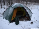 Staika In The Snow by Tipi Walter in Tent camping