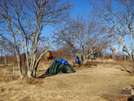Another Beautiful Camp Atop Bob's Bald by Tipi Walter in Tent camping