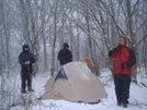 Pretty Camp One Day, Snow The Next by Tipi Walter in Tent camping