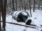 Snow Comes In The Night by Tipi Walter in Tent camping