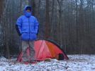 It's Cold At Sycamore Creek Camp by Tipi Walter in Tent camping