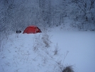 A Sudden Snowstorms Hits The Whigg by Tipi Walter in Tent camping