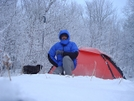 Uncle Fungus Surveys His White Kingdom by Tipi Walter in Tent camping