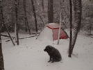 Snow In The Bald River Wilderness by Tipi Walter in Tent camping