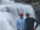 With Little Mitten At Bald River Falls by Tipi Walter in Views in North Carolina & Tennessee
