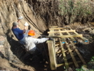 Bmt Trail Crew Fixing The Beech Gap Footbridge by Tipi Walter in Maintenence Workers