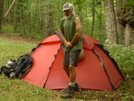 The All Important Mr. Citico Poses by Tipi Walter in Tent camping