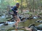 Smack Crossing Slickrock Creek by Tipi Walter in Thru - Hikers
