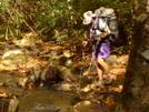 Regina Crossing Slickrock Creek by Tipi Walter in Thru - Hikers