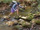 Regina Crossing Upper Bald River by Tipi Walter in Thru - Hikers