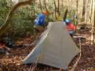 Don's Tarptent On Brookshire Creek Trail by Tipi Walter in Tent camping