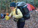 Regina Packs Up On Brookshire Creek by Tipi Walter in Thru - Hikers