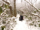 White Trails And A Heavy Pack